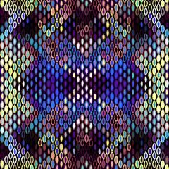 Seamless chevron geometric pattern, based on ikat fabric style. Vector image.
