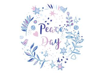 Holiday greetings illustration International Peace Day