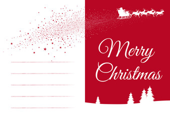 Seasonal Greeting Card with Free Fields for Text