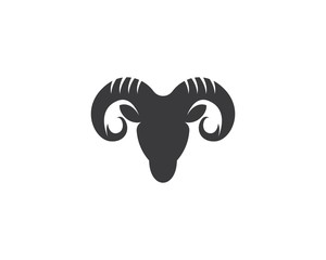 Rams head logo design icon