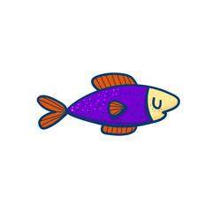 Small colorful vector fish