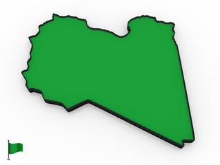 Libya high detailed 3D map