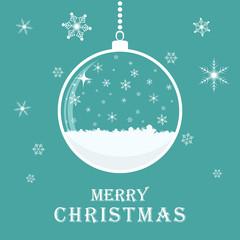 Christmas greeting card with Christmas ball. Vector illustration.