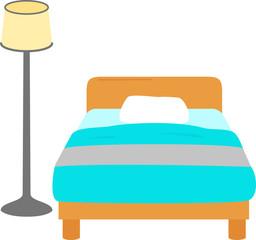 ベッドとスタンドライト