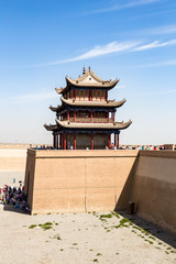 "One of the towers of Jiayuguan Fort, China. Known as ""first pass under the heaven"", it was the most western fort of ancient china on the silk road, the end of civilization before the Gobi desert"