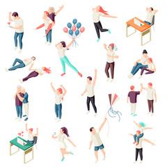 Happy People Isometric Set