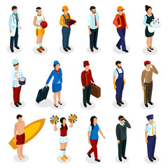 Professions Isometric People