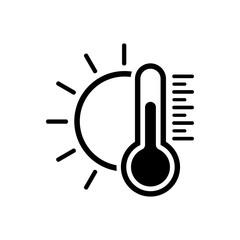 Temperature icon. Good sunny weather symbol