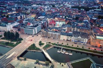Aerial panorama of Malmo