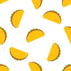 Tacos seamless vector pattern