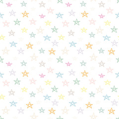 Doodle star seamless pattern. Geometric background. Vector illustration.