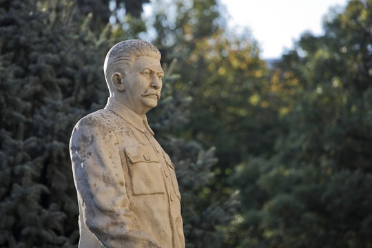 Monument to the Soviet leader Josef Stalin in his hometown Gori in Georgia