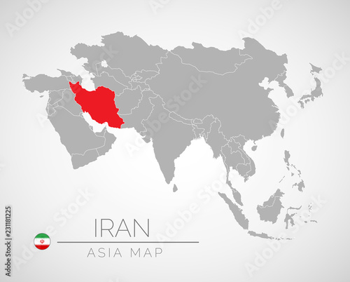 Map Of Asia With The Identication Iran Map Of Iran Political Map