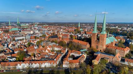 Blick über die Altstadt Lübecks