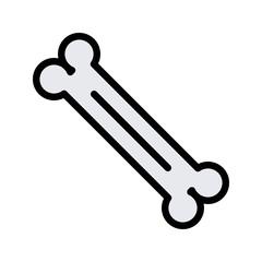 Bone Medical Line Filled Icon