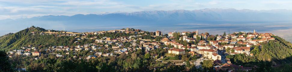 Panorama de Sighnaghi, Vallée d'Alazani, Géorgie