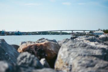 the river and bridge landscape,background,rocks