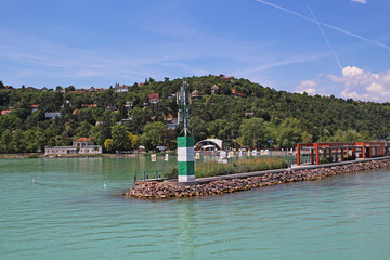 Balaton Hungary European big lake Tihany city view 2018 summer travel tourism photos