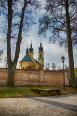 View on the Church of St. Peter and Paul in Bardejov. Slovakia