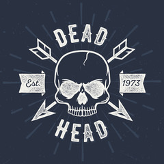 Dead Head - Aged Tee Design For Printing