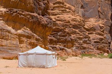 Berber tent in the Wadi Rum desert, Jordan.