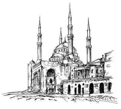 Mohammad Al-Amin Mosque in Beirut, Lebanon.