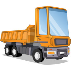 Truck. Isolated on white background. Vector illustration.