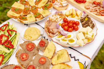 Romanian home made food table