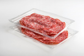 Tray Packaged of Presliced Salame