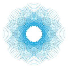 Spirograph for safety protective layer on the diplomas, certificates or bills - vector illustration