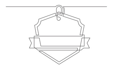 continuous line drawing of tag label design