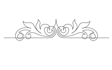 continuous line drawing of vignette devider header design