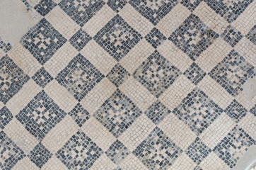 Roman mosaic in Pompeii, Italy