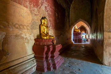 Buddha Image of Sulamani Temple in Bagan, Myanmar.