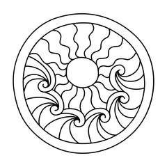 Doodles filled circle