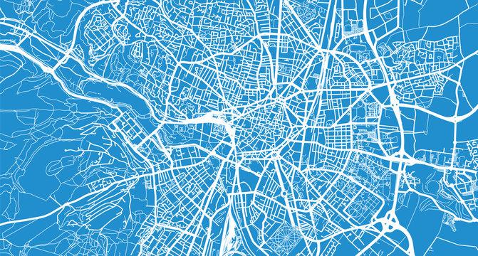 Urban vector city map of Dijon, France