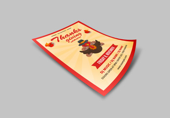Thanksgiving Party Flyer Layout
