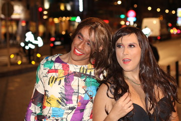 Drag queens enjoying a night out
