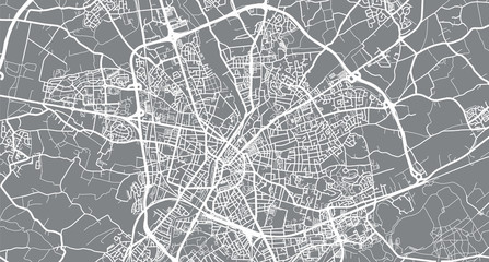 Urban vector city map of Le Mans, France