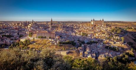 Toledo, Spain cityscape with panorama view