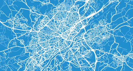 Urban vector city map of Limoges, France