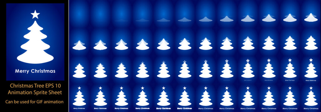 Christmas Santa Laughing and wishing animation sprite sheet, Can be used for GIF animation