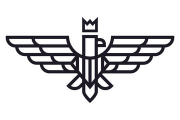 Geometric illustration of eagle logo