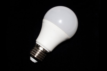 light bulb isolated on black background