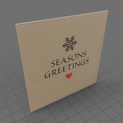 Closed holiday greetings card