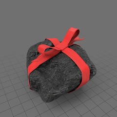 Lump of coal with ribbon 2