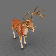 Reindeer statue head lowered
