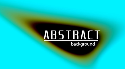 Abstract template with blurred rounded shape on aqua blue background