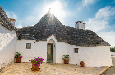 Wall Mural - The traditional Trulli houses in Alberobello city, Apulia, Italy