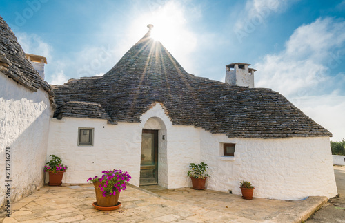 Wall mural The traditional Trulli houses in Alberobello city, Apulia, Italy